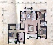 瀚海尊爵4室2厅3卫187平方米户型图