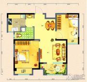 荣盛・锦绣外滩2室2厅1卫76平方米户型图