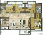 万科东荟城4室2厅2卫123平方米户型图