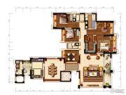 环球汇天誉5室2厅4卫280平方米户型图