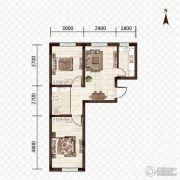 益和国际城2室1厅1卫67平方米户型图