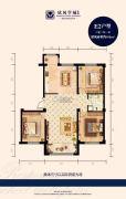 欣凤学城二期3室2厅1卫105平方米户型图