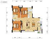 积家御景3室2厅2卫89平方米户型图
