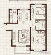 中山凯旋门2室2厅1卫93平方米户型图