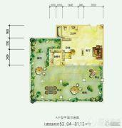 中铁国际生态城白晶谷0平方米户型图