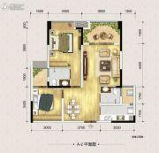 富州新城D街区2室2厅2卫73平方米户型图