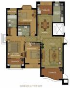 名城国际3室2厅2卫151平方米户型图