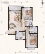 滨河果岭2室2厅2卫108平方米户型图
