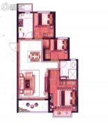 恒大悦珑湾3室2厅1卫95平方米户型图