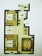 澳海澜庭(现房)2室2厅1卫99平方米户型图