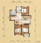国茂清华园3室2厅1卫114平方米户型图
