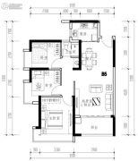 华发城建未来荟3室2厅1卫85平方米户型图