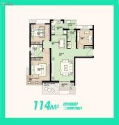 安联生态城3室2厅2卫114平方米户型图