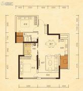 公园华府2室2厅1卫92平方米户型图