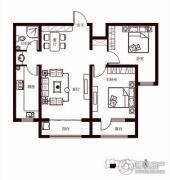 花香漫城2室2厅1卫99平方米户型图