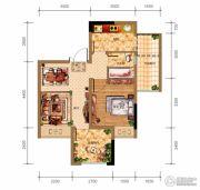 鸥鹏泊雅湾1室2厅1卫42平方米户型图