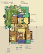 龙湖香醍�Z宸3室2厅2卫140平方米户型图