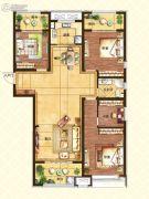 济南世茂天城3室2厅1卫140平方米户型图