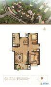 万和城2室2厅1卫105平方米户型图