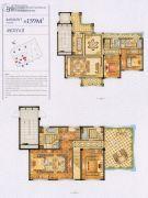 四季原著4室2厅4卫159平方米户型图