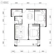 国贸商城・同悦3室2厅1卫0平方米户型图