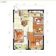 越秀星汇蓝海3室2厅1卫96平方米户型图