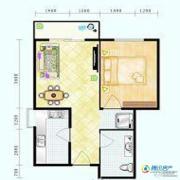 滨海新城1室1厅1卫50平方米户型图