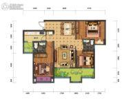 蓝光中央广场3室2厅2卫93平方米户型图