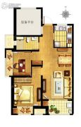 万科MixTown2室2厅1卫0平方米户型图