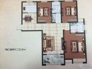 盛世明都3室2厅2卫130平方米户型图