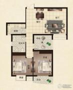 升龙御玺2室2厅1卫86平方米户型图