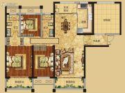 红星国际广场3室2厅2卫149平方米户型图