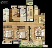 万科金域滨江3室2厅2卫119平方米户型图