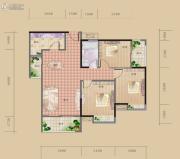 海赋长兴3室2厅1卫94平方米户型图