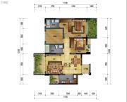 万象国际城2室2厅2卫98平方米户型图