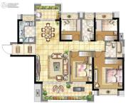 壹号公馆4室2厅2卫0平方米户型图