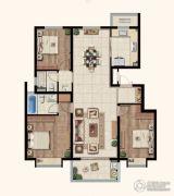 中海玄武公馆3室2厅2卫128平方米户型图