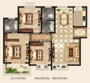 华廷四季城3室2厅2卫105平方米户型图