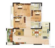康格斯花园3室2厅2卫89--101平方米户型图