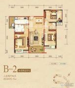 嘉州新城・滟澜洲3室2厅1卫89平方米户型图