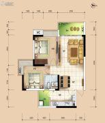 华安珑廷2室2厅1卫73平方米户型图