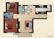 哈西万达广场2室2厅1卫103平方米户型图