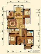 迎恩府4室2厅2卫166平方米户型图