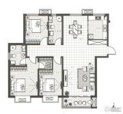 万汇国际广场3室2厅2卫142平方米户型图