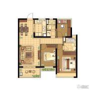 蓝光公园1号3室2厅2卫108平方米户型图
