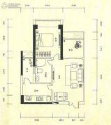 金城大厦1室2厅1卫46平方米户型图