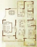 万泰麓溪公馆3室2厅2卫153平方米户型图