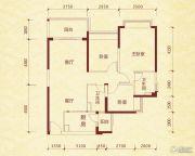 成都恒大金碧天下3室2厅2卫103平方米户型图