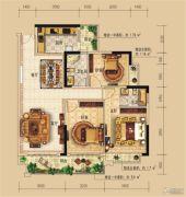 远辰龙湾名郡3室2厅2卫117--118平方米户型图