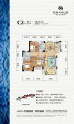 海纳・中央公园3室2厅2卫113平方米户型图